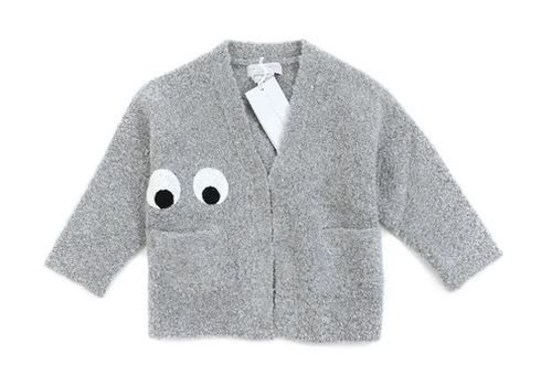572132 / 1461 GREY / STELLA McCARTNEY CARDIGAN W/EYES