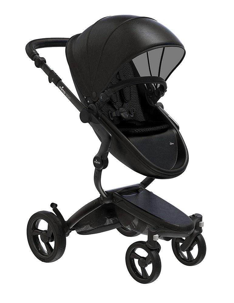 A116-06007. / BLACK/BLACK / Mima Xari Black Frame Strollers