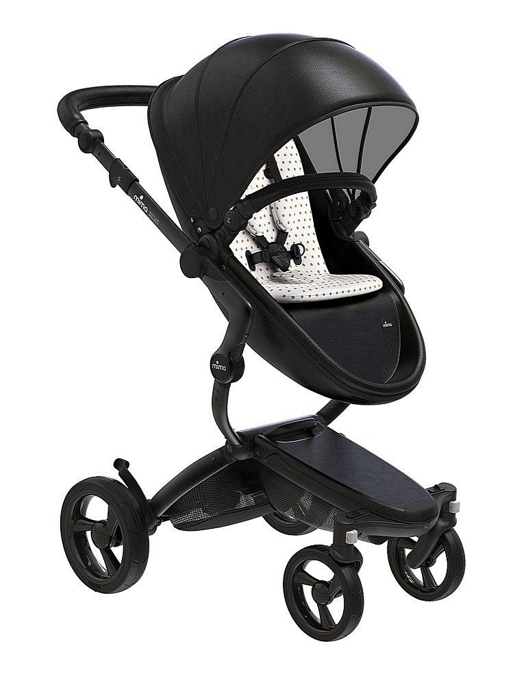 A116-06007. / BLACK/BEIGE / Mima Xari Black Frame Strollers