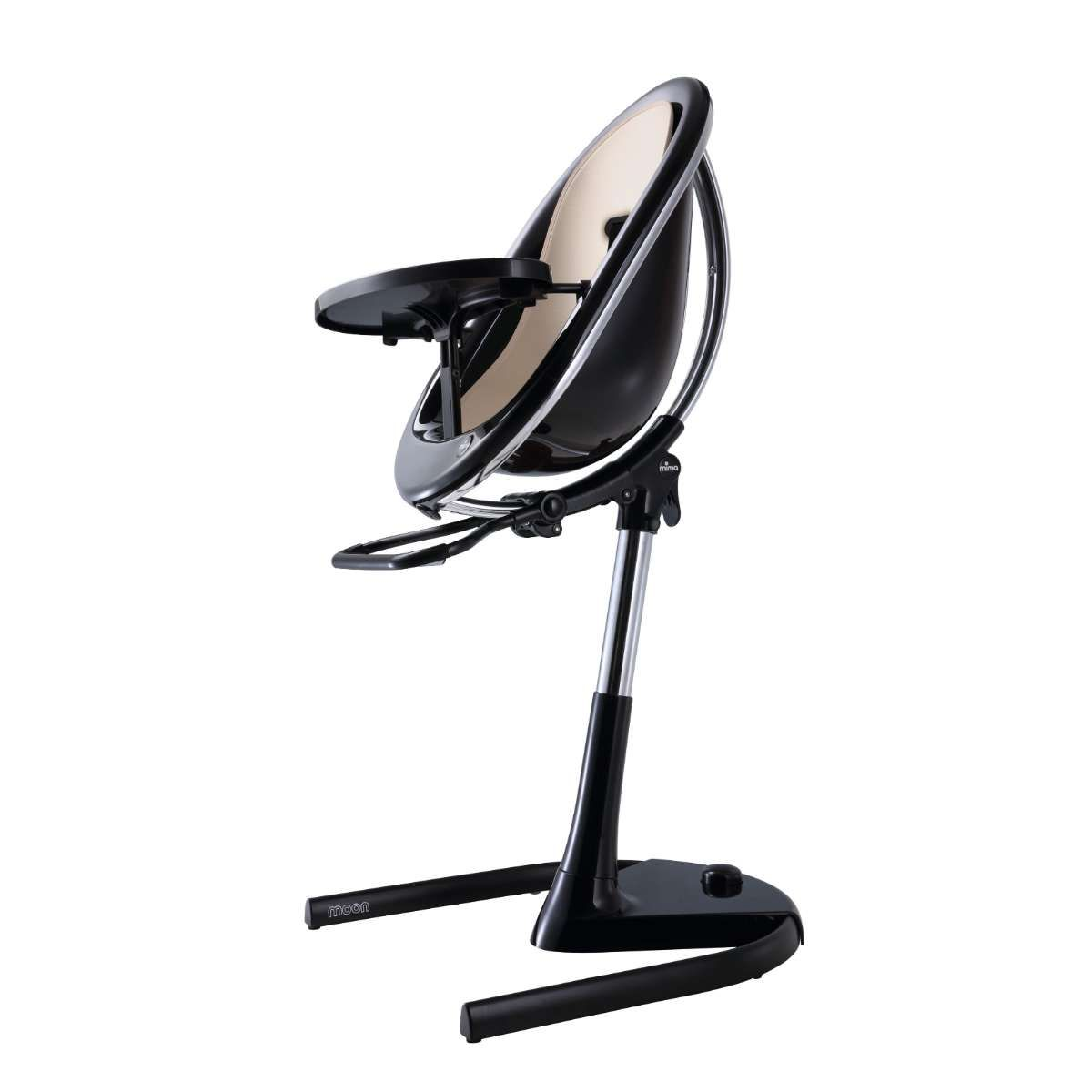 H103C-BL-BBD190 / CHAMPAGNE / Mima Moon 2G Black Base Highchair