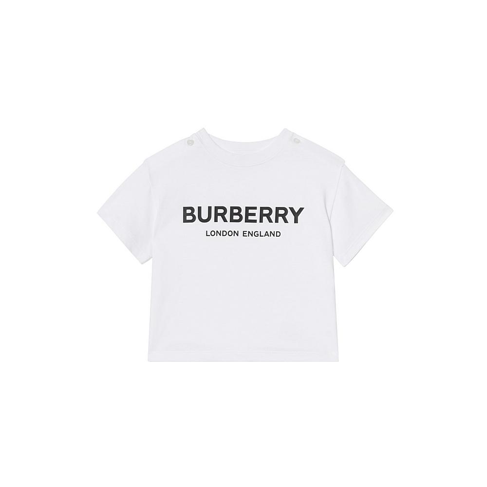8008888 / WHITE / BURBERRY MINI ROBBIE T-SHIRT
