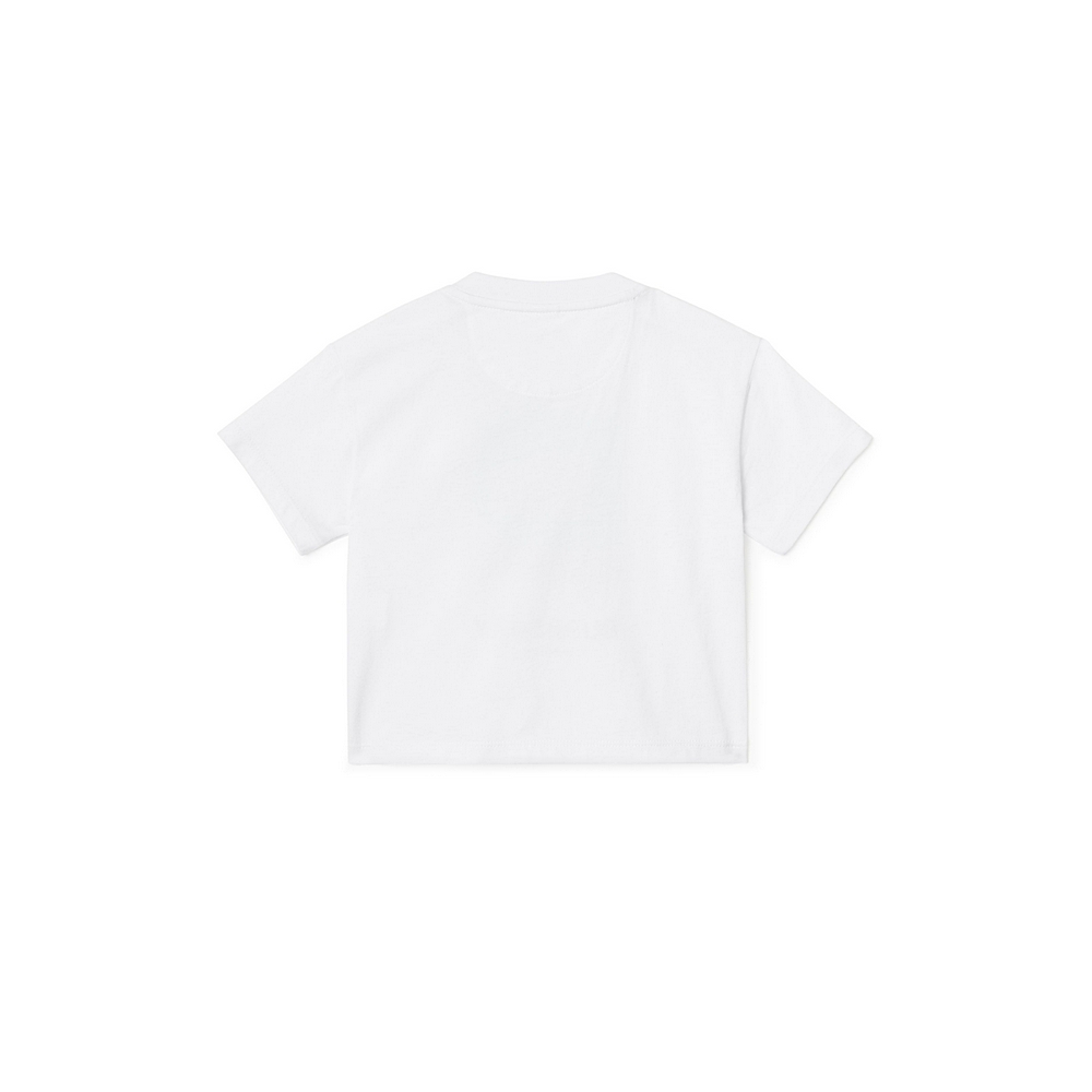8010688 / WHITE / BURBERRY MINI PHOTO FLAG T-SHIRT