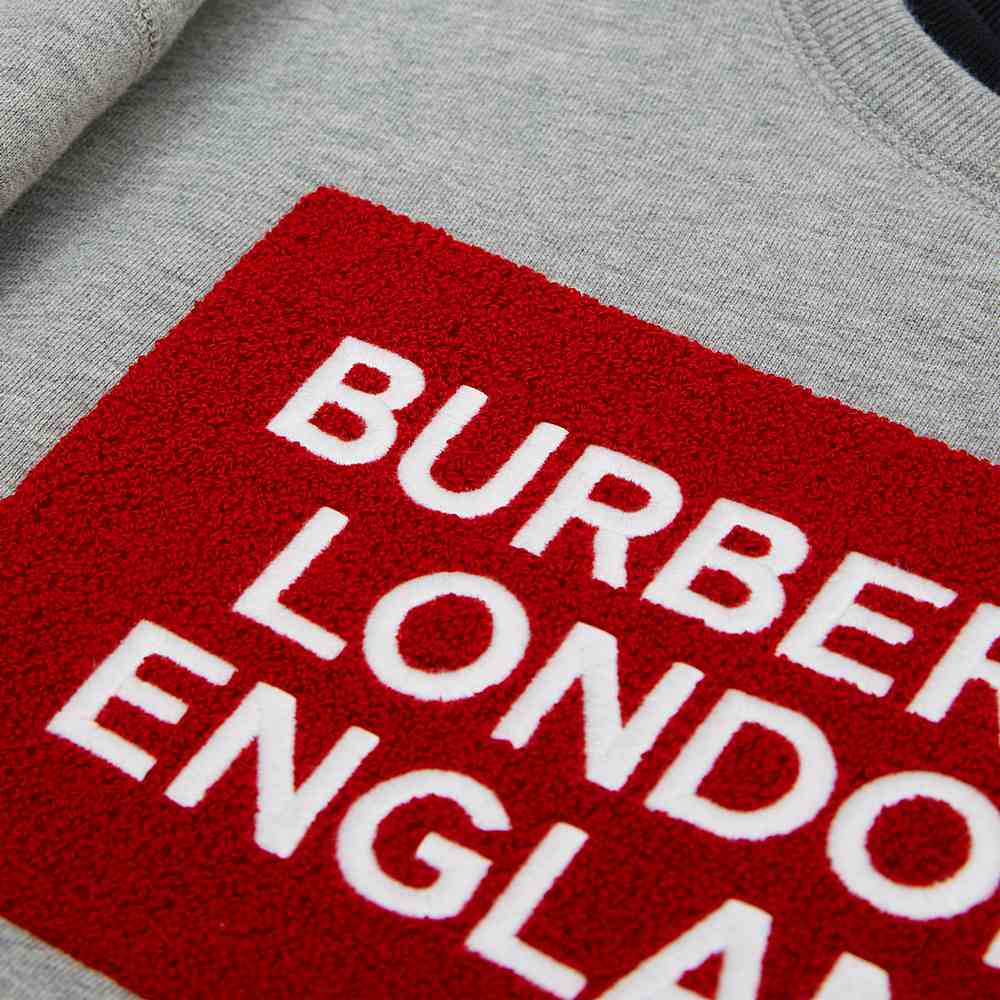 8017838 / GREY/RED / BURBERRY FABBIO SWEATSHIRT