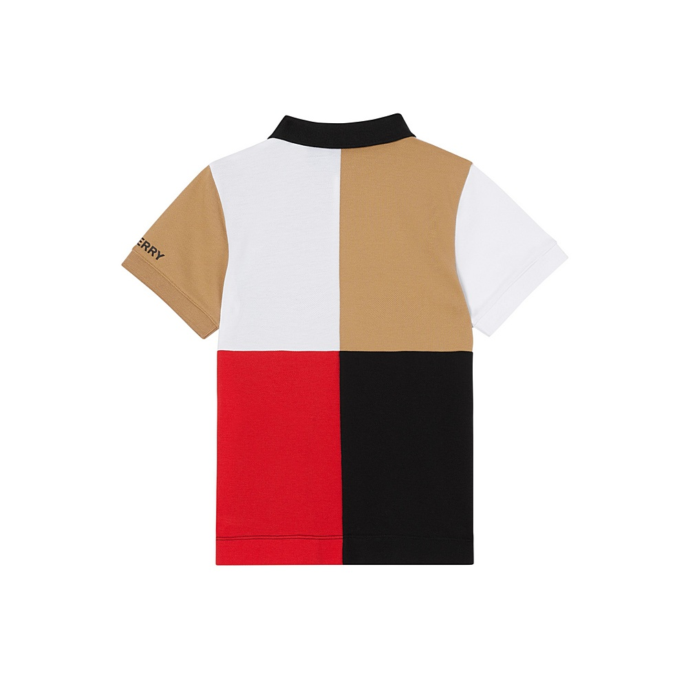 8022652 / MULTI / BURBERRY COLOR BLOCK POLO SHIRT