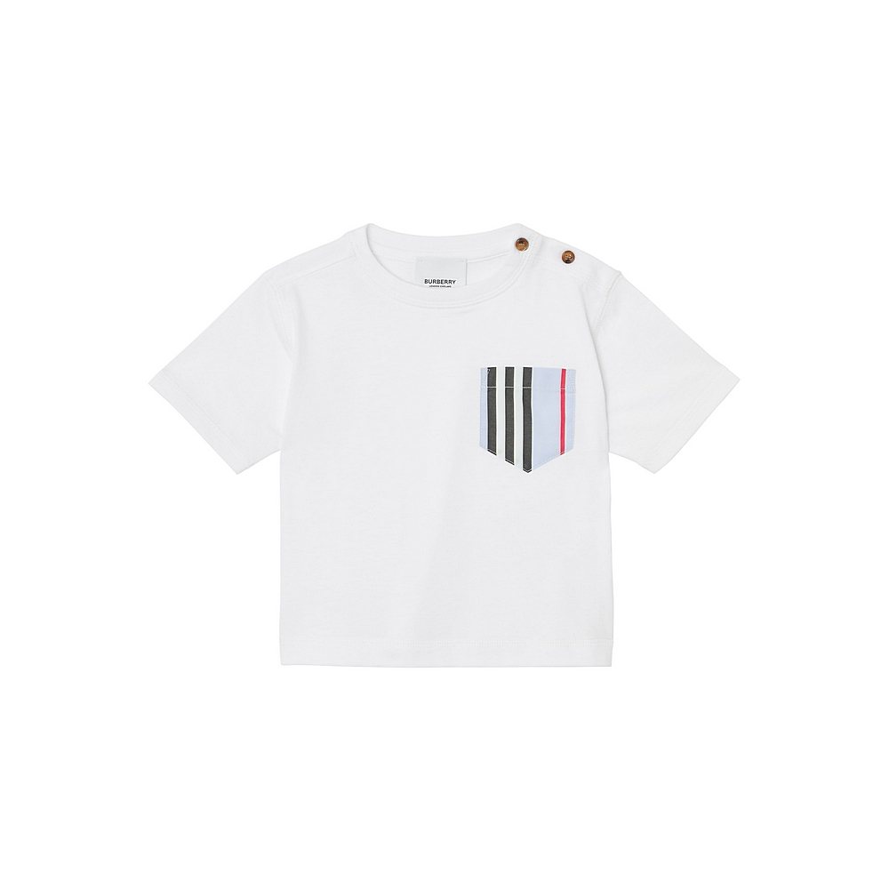 8025027 / BLUE/WHITE / BURBERRY ICON POCKET T-SHIRT