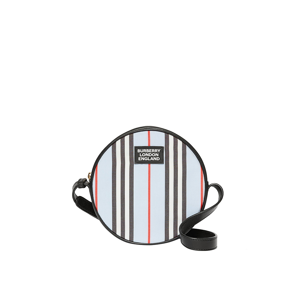 8023903 / BLUE / BURBERRY TABOURINE A STRIPE CROSSBODY
