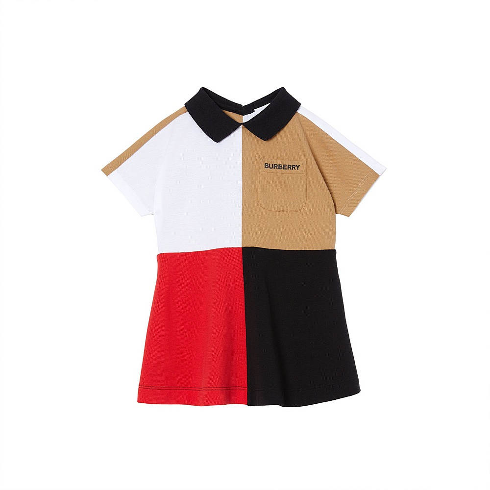 8022617 / MULTI / BURBERRY COLOR BLOCK JERSEY DRESS