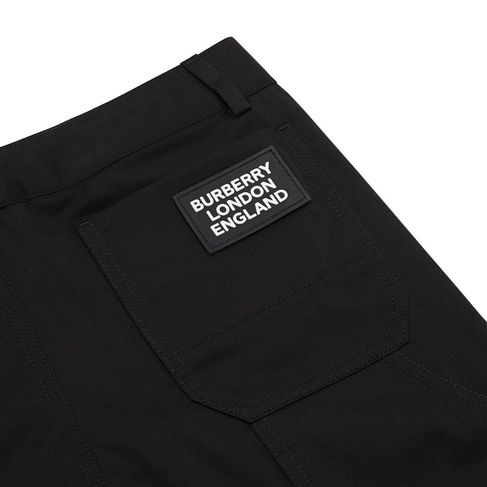 8020474 / BLACK / BURBERRY KAIDEN COTTON PANTS