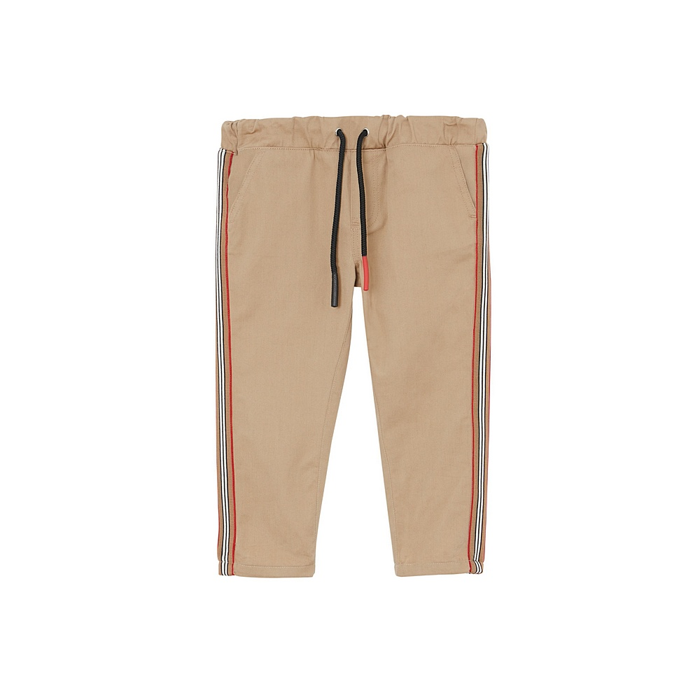 8014053 / BEIGE / BURBERRY CURRAN ICON PANTS W/STRIPES