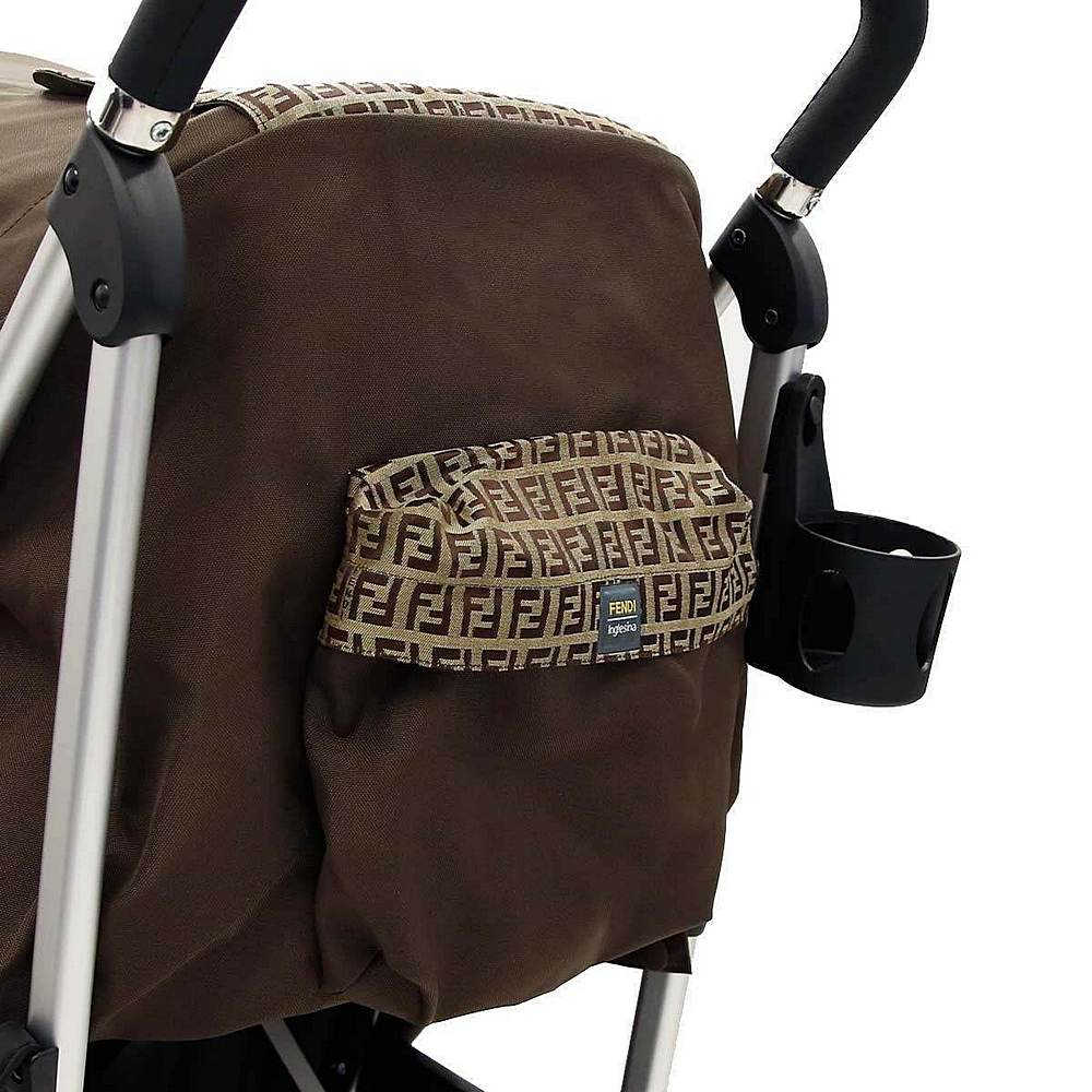 BUV003-QK6-UNI / BROWN / Fendi Brown Monogram Stroller