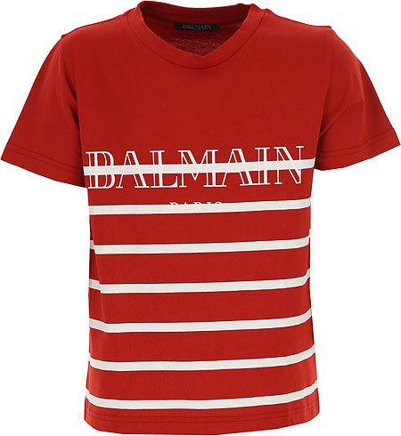 I158. 132 RED TEE SHIRTS BALMAIN