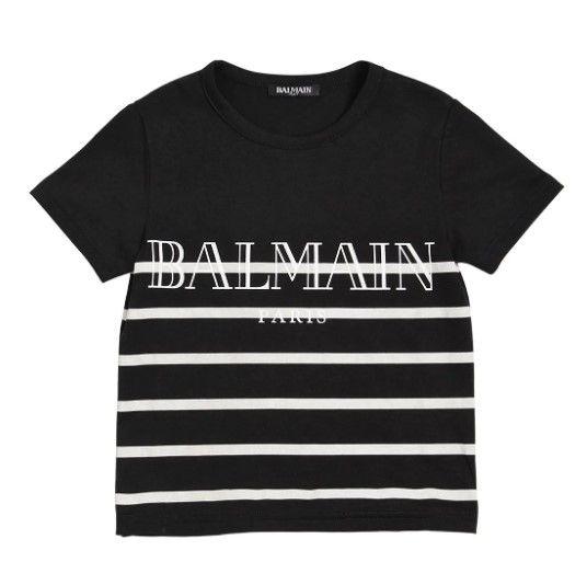 I158 159 BLACK TEE SHIRTS BALMAIN
