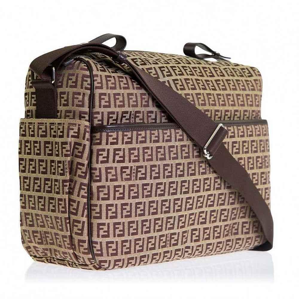 7VB006-XXQ-UNI / BROWN / FENDI Brown Logo Print Diaper Bag