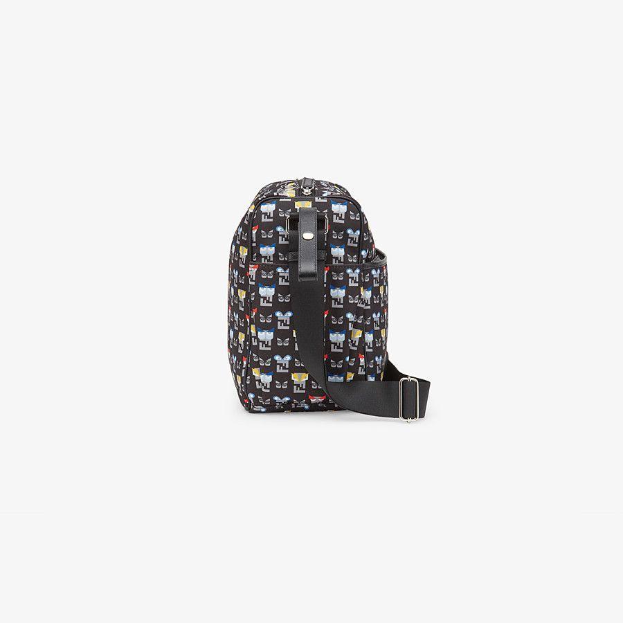7VB009-788-UNI / BLACK / FENDI Black Monster Print Diaper Bag