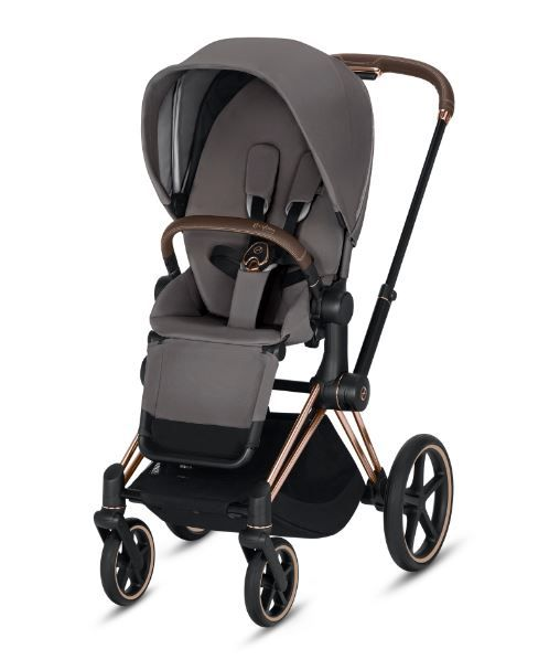 519003337 / MANHATTAN GREY / CYBEX E-PRIAM- ROSE GOLD FRAME/ Manhattan Grey