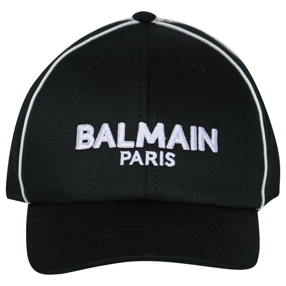 6K0587 / 930BC BLK/WHT / BALMAIN CAP W/LOGO