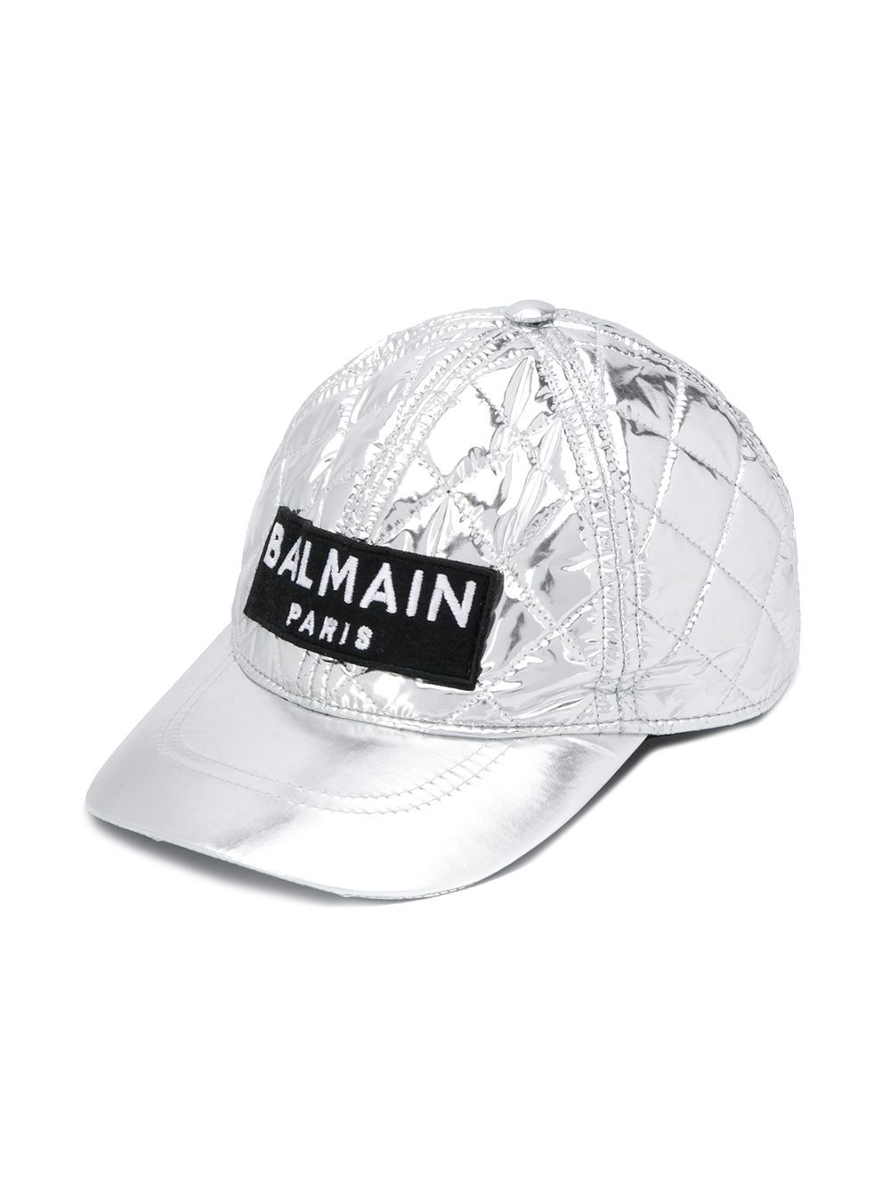 6L0637 / 925 SILVER / BALMAIN QUILTED BASEBALL CAP