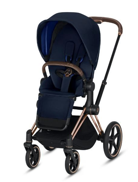 519003335 / INDIGO BLUE / CYBEX E-PRIAM- ROSE GOLD FRAME/ Indigo Blue