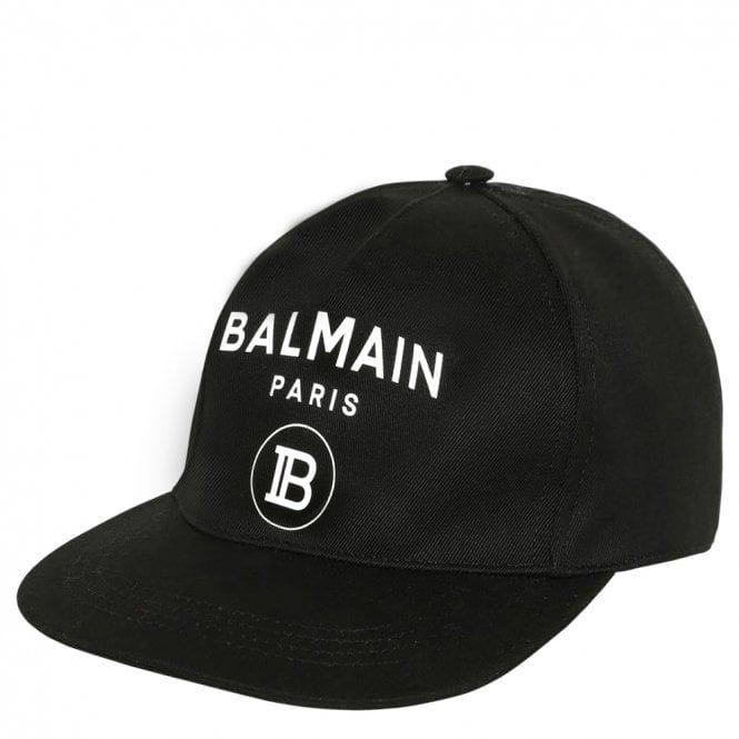 6L0677 / 930BC BLK/WHT / BALMAIN BASEBALL CAP
