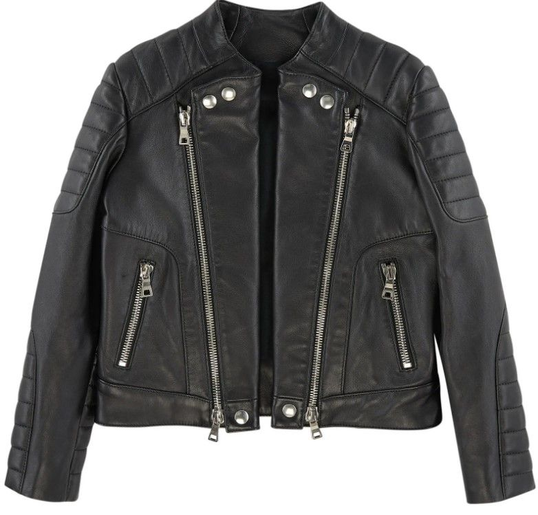 POE2003P / 176 BLACK / BALMAIN LEATHER JACKET