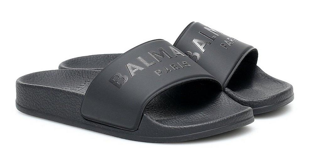 6M0746. / 930 BLACK / BALMAIN SLIDES W/LOGO