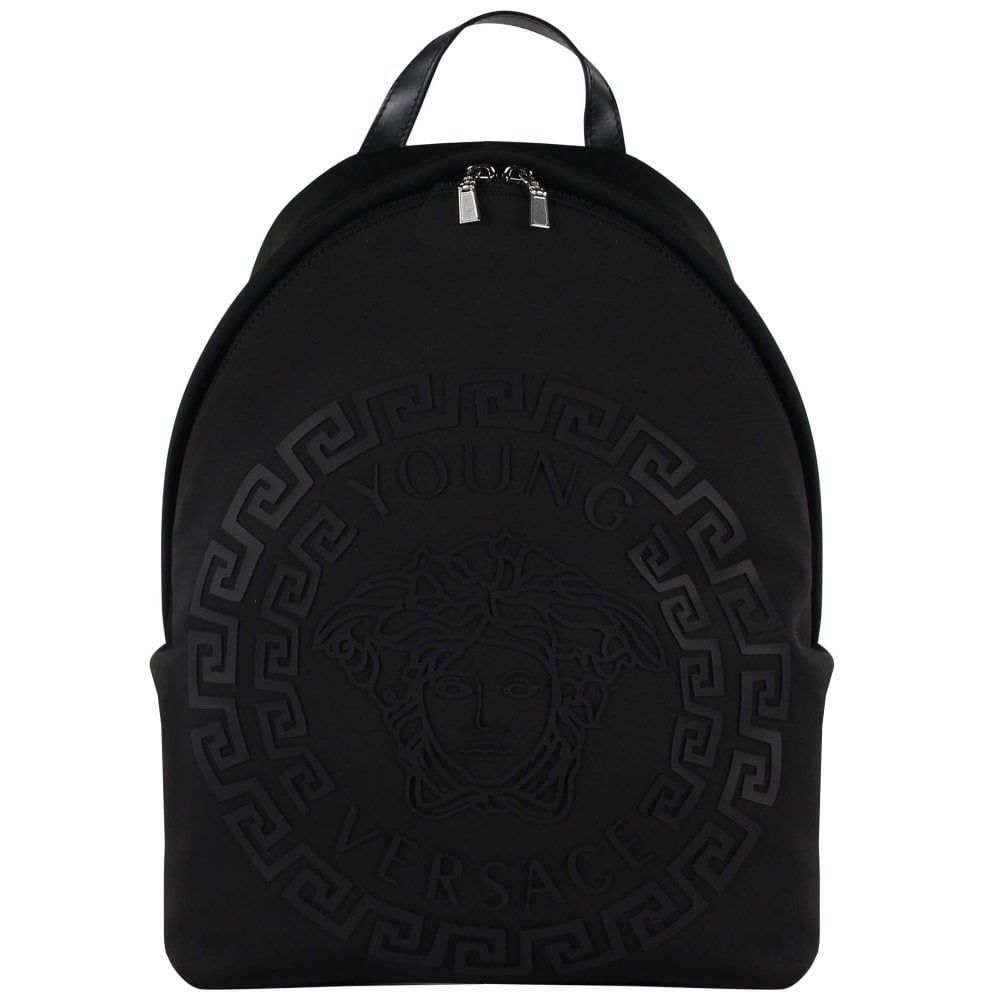 YBM0013 / BLACK / YOUNG VERSACE BACKPACK W/MEDUSA