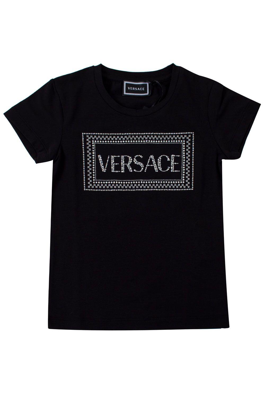 YC000140 / BLACK / Logo Cyrstal Embellished T-Shirt