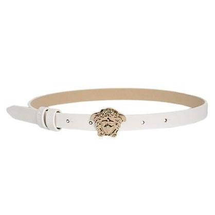 YCF0001. / YS01O WHITE / Girls Skinny Belt W/MEDUSA BUCKLE
