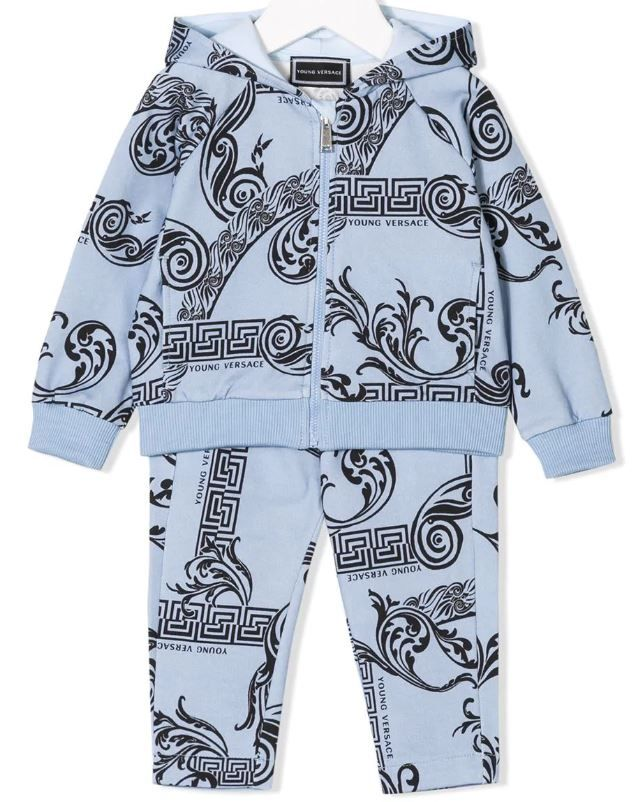 YVBCD25 22 BLUE JACKET BOTTOMS SETS YOUNG VERSACE
