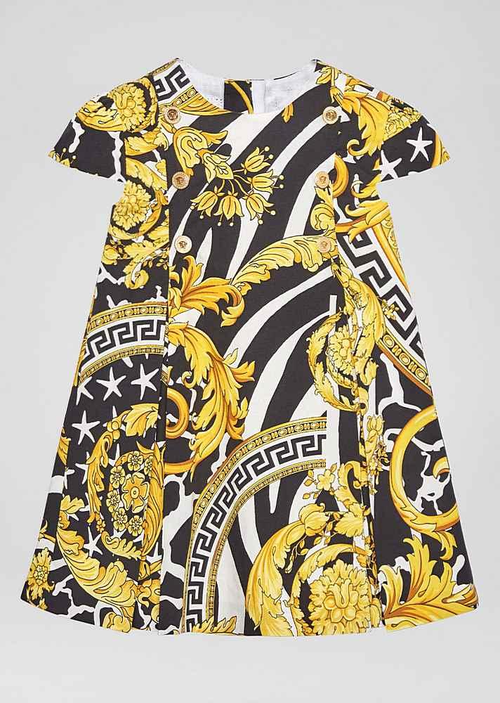 YA000068 / BLACK/GOLD / YOUNG VERSACE SS BAROCCO DRESS