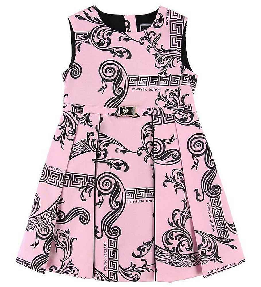 YVFAB4074518 PINK DRESSES YOUNG VERSACE APPAREL