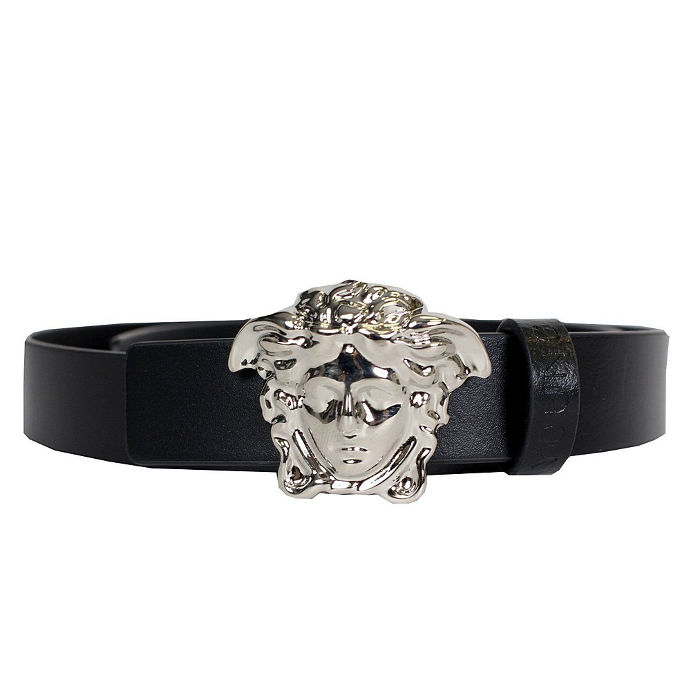 YCM0006. / YS4IN BLACK / YOUNG VERSACE LEATHER BELT W/MEDUSA BUCKLE