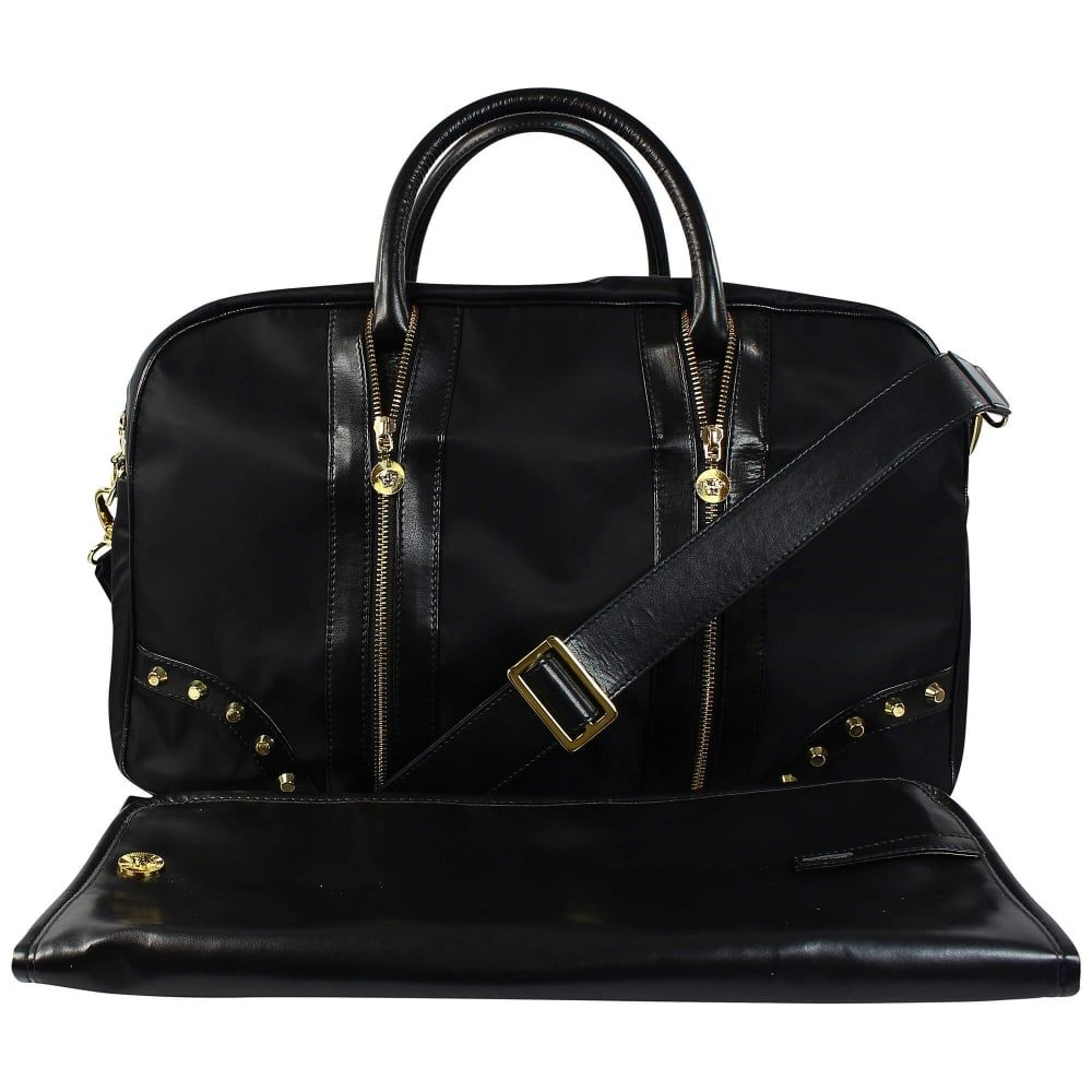 YBF0012 / YS41 BLACK / YOUNG VERSACE Diaper BAG W/STUDS