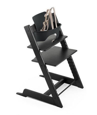 537600 / OAK BLACK / Tripp Trapp HighChair Box Set -Oak Black