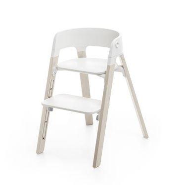 492100 / WHITEWASH / Steps Chair-Whitewash Legs W/White Seat