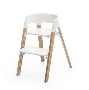 492200 / NATURAL / Steps Chair-Natural Legs W/White Seat