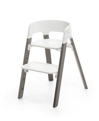 492300 / HAZY GREY / Steps Chair-Hazy Grey Legs W/White Seat