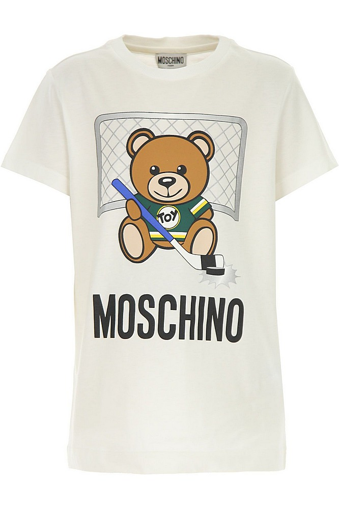 HZM024 / CLOUD / MOSCHINO TEE W/HOCKEY TOY BEAR