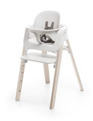 560200 / WHITEWASH / Steps HighChair-Whitewash Legs W/White Seat