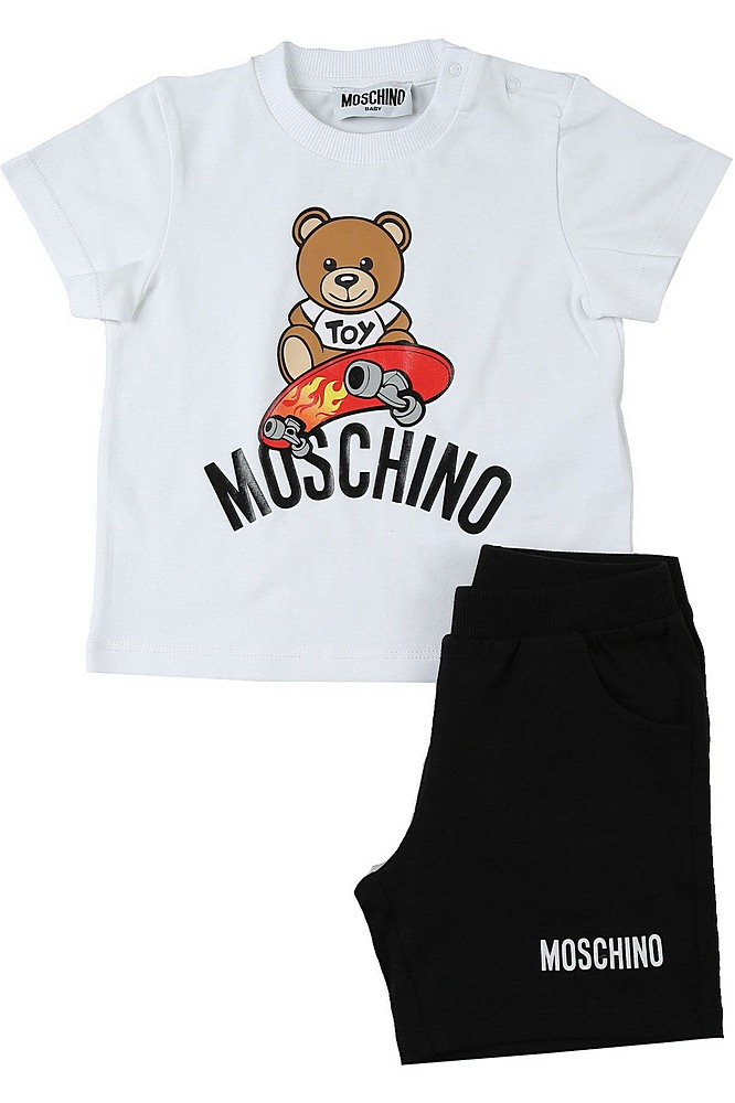 MMG003 / WHITE/BLACK / MOSCHINO TOY T-Shirt & Shorts SET