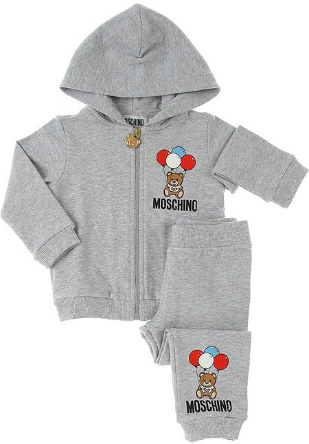 MRK00G / GREY / MOSCHINO TOY BEAR HOODED TRACKSUIT