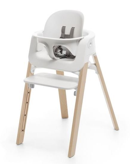 560400 / NATURAL / Steps HighChair-Natural Legs W/White Seat
