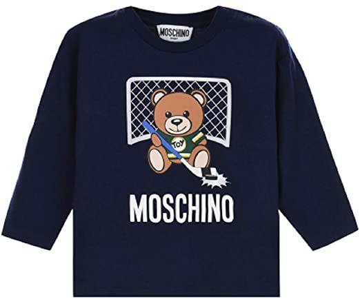 MUM025 / NAVY / MOSCHINO TEE W/HOCKEY TOY BEAR