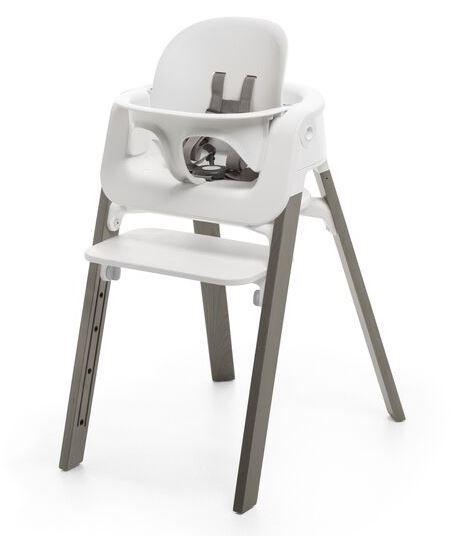 560500 / HAZY GREY / Steps HighChair-Hazy Grey Legs W/White Seat