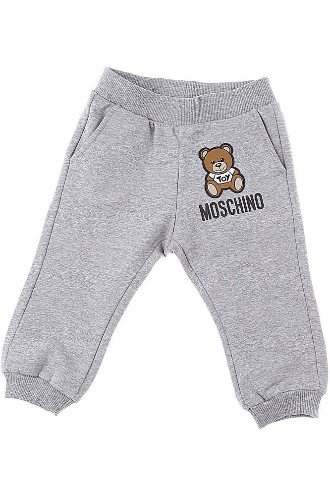 MUP034 / GREY / MOSCHINO SWEATPANTS W/TOY BEAR