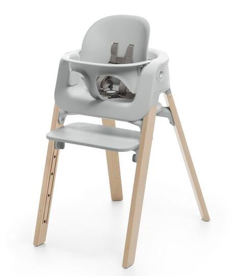 560600 / NATURAL GREY / Steps HighChair-Natural Legs W/Grey Seat