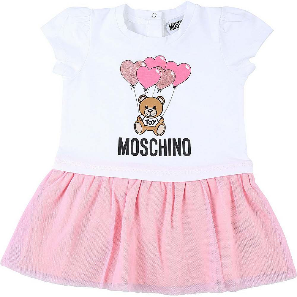 MDV07X / WHITE/ROSA / MOSCHINO BALLOON DRESS