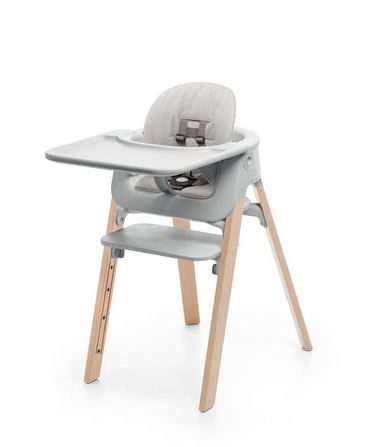 560100 / NATURAL GREY / Steps HighChair Complete-Natural Grey